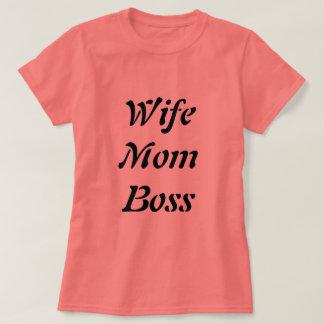 Coral Wife Mum Boss T-Shirt