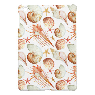 Coral With Shells And Crabs Pattern Case For The iPad Mini