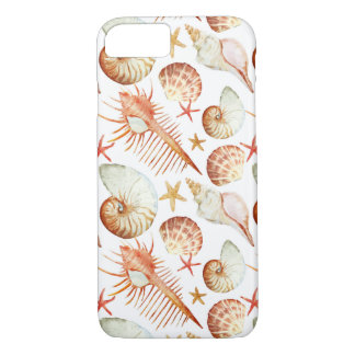 Coral With Shells And Crabs Pattern iPhone 8/7 Case