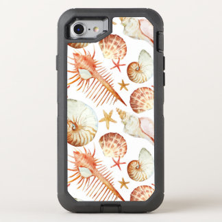 Coral With Shells And Crabs Pattern OtterBox Defender iPhone 8/7 Case