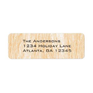 Coral Wood Grain Return Address Labels