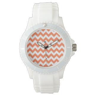 Coral Zigzag Watch