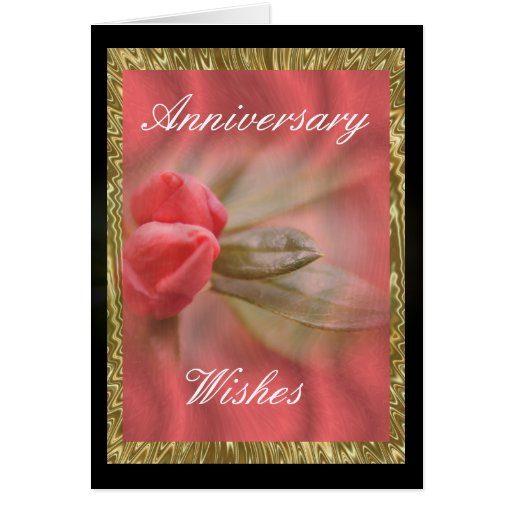 CoralAzaleaBuds/Gold- customize as needed Greeting Card