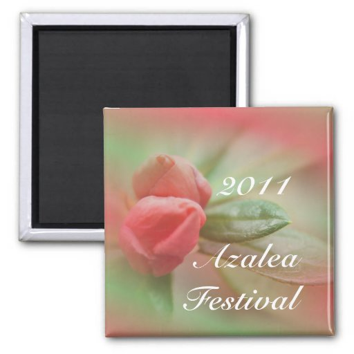 CoralAzaleaBudsSqMagnet- customize as needed Refrigerator Magnets