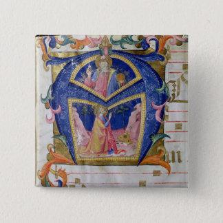 Corale / Graduale no.5  Historiated initial 'A' de 15 Cm Square Badge