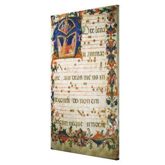 Corale / Graduale no.5  Historiated initial 'A' de Canvas Print