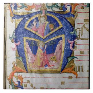 Corale / Graduale no.5  Historiated initial 'A' de Tile