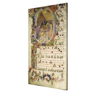 Corale / Graduale no.5  Historiated initial 'P' de Canvas Print