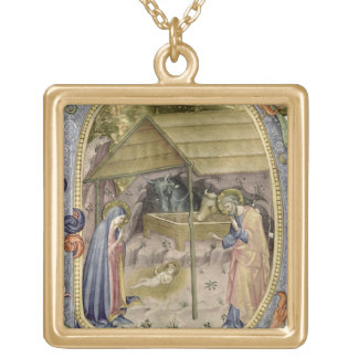 Corale / Graduale no.5  Historiated initial 'P' de Gold Plated Necklace