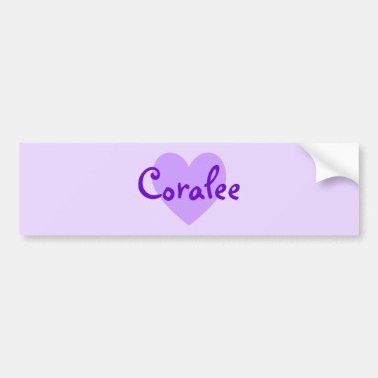 Coralee in Purple Bumper Sticker