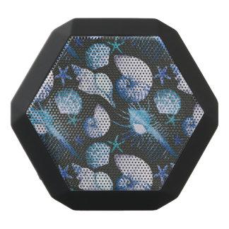 Corals With Shells Pattern Black Bluetooth Speaker
