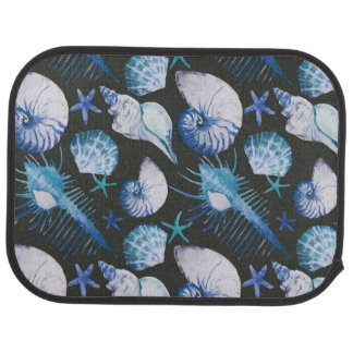 Corals With Shells Pattern Car Mat