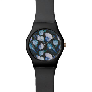 Corals With Shells Pattern Wristwatches
