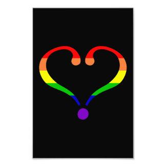 Corazón Arco Iris del orgullo día de San Valentín Fotografías