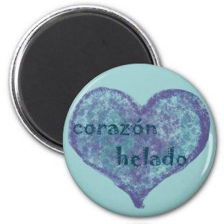 Corazon Helado 6 Cm Round Magnet
