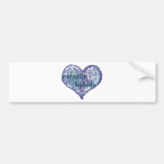 Corazon Helado Bumper Sticker