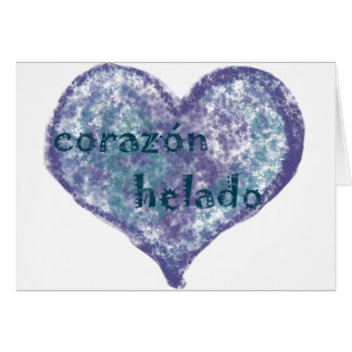 Corazon Helado Greeting Card
