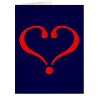 Corazón rojo y amor abierto en día de San Valentín Tarjeton