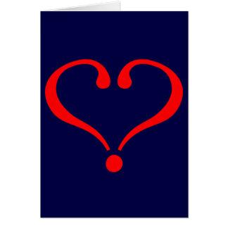 Corazón rojo y amor abierto en día de San Valentín Tarjetas