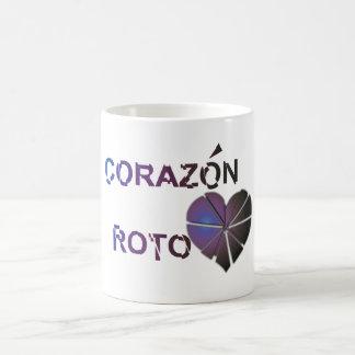 Corazon roto basic white mug