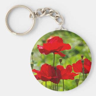 corb poppy basic round button key ring