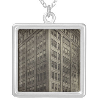 Corbett Bldg, Portland, Oregon Silver Plated Necklace