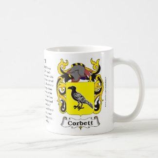 Corbett, Origin, Meaning and the Crest Coffee Mug