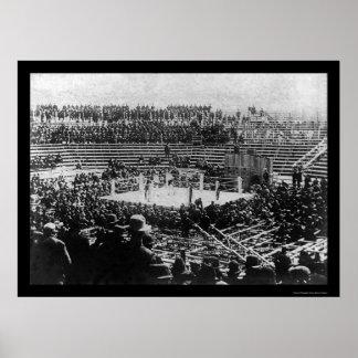 Corbett vs Fitzsimmons Boxing Match 1897 Print