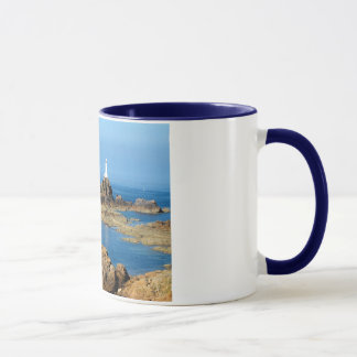 Corbiere lighthouse at low tide mug