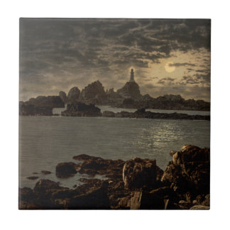 Corbiere Lighthouse II, Jersey, England Tile