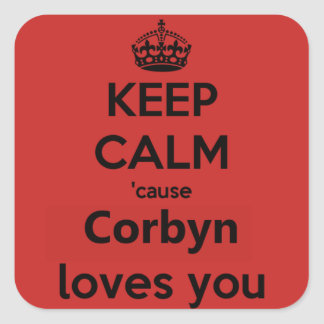 Corbyn Loves you Square Sticker