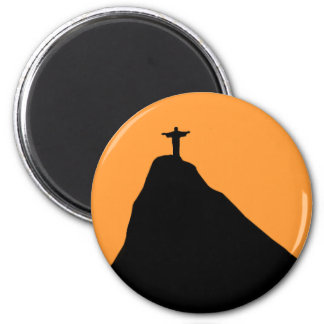 Corcovado - Brasil 6 Cm Round Magnet