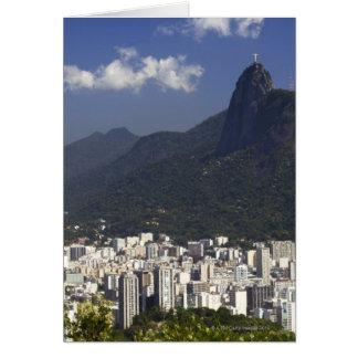 Corcovado overlooking Rio de Janeiro, Brazil Card
