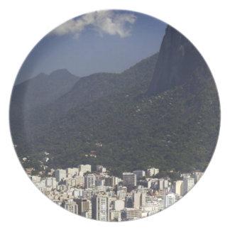 Corcovado overlooking Rio de Janeiro, Brazil Plate
