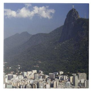 Corcovado overlooking Rio de Janeiro, Brazil Tile
