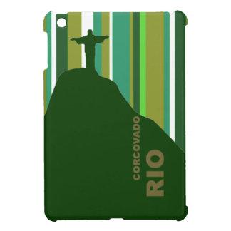 Corcovado Rio with stripes iPad Mini Cases