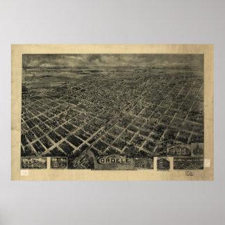 Cordele Georgia 1908 Antique Panoramic Map Poster