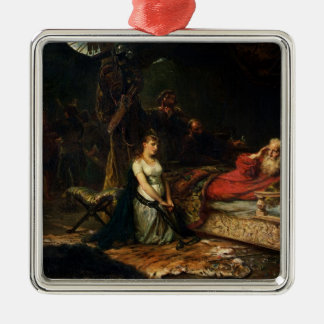 Cordelia and King Lear (oil on canvas) Christmas Ornament