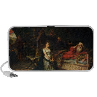 Cordelia and King Lear (oil on canvas) Travelling Speakers
