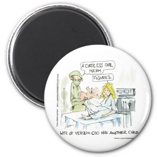Cordless Baby Funny Cards Tees Mugs & Gifts Magnet