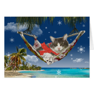 Corduroy in the Caribbean, Holiday Greeting Card
