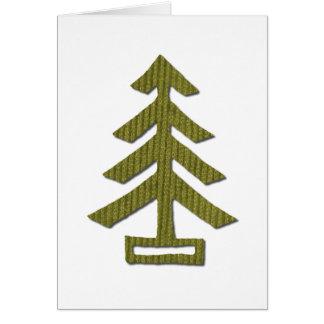 Corduroy Pine Card
