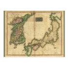 Corea (Korea) and Japan Map (1815) Postcard