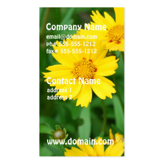 Coreopsis Flowers Business Card Templates