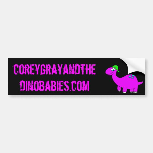 Corey Grey and the Dinobabies Bumper Sticker