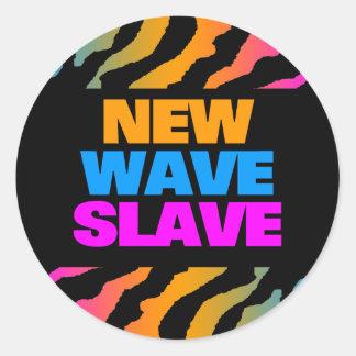 COREY TIGER 1980 s RETRO NEW WAVE SLAVE Round Stickers