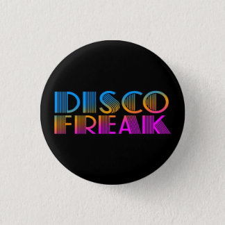 COREY TIGER 1980s RETRO DISCO FREAK MULTICOLOR 3 Cm Round Badge