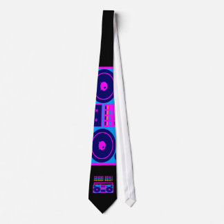 Corey Tiger 1980S Retro Fresh Beat Boombox Tie