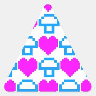 Corey Tiger 80s 8-bit Mushrooms Hearts Triangle Sticker