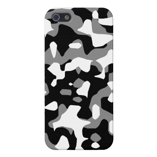 Corey Tiger 80s Neon Camo (Grey Snow) iPhone